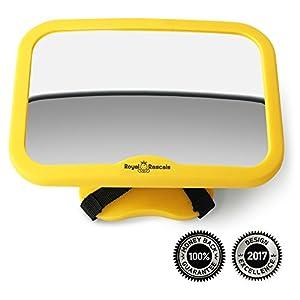 Espejo retrovisor para asiento de niño mirando hacia atrás