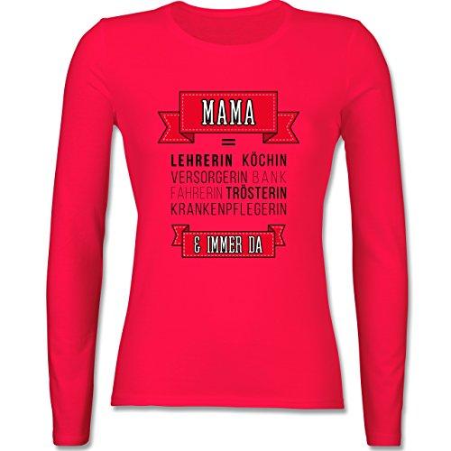 Muttertag - Mama ist.... - tailliertes Longsleeve / langärmeliges T-Shirt für Damen Rot