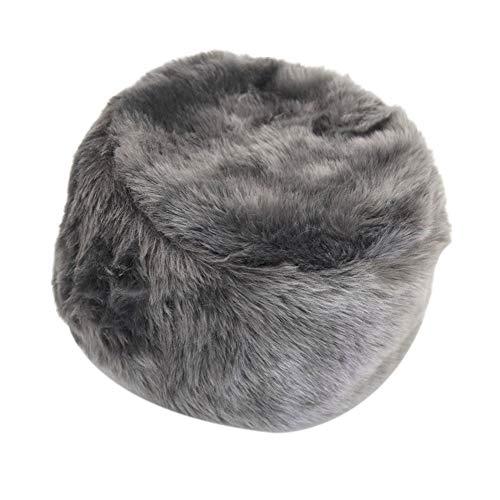 xMxDESiZ Winter Russische Frauen M?nner Fluffy Faux Fur Solid Color Ear Warmer Hat Beanie Cap (Gnome Dodger)