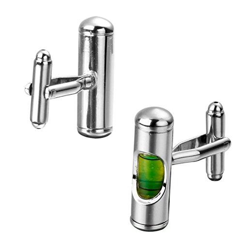 Grün Spirit Level Manschettenknöpfe Builder DIY Manschette Link Silber Formale Manschettenknöpfe -