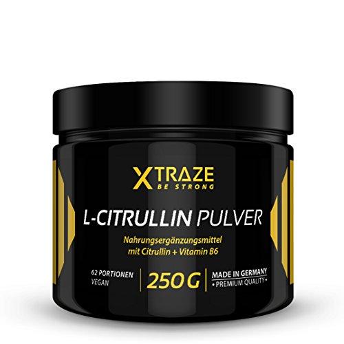 L-Citrullin Malat Pulver 250 g - 100{f1133183fe66956d31ea26b6eb94bb1f060acfd93a10057aa2dbac746d11c046} rein + Vitamin B6 vegan und ohne Zusatzstoffe - Qualität aus Deutschland - Aminosäure Citrulline für Kraftsport | Bodybuilding | Fitness (1 Dose)