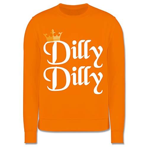 lly Dilly - St. Patricks Day - 9-11 Jahre (140) - Orange - JH030K - Kinder Pullover ()