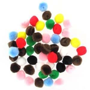 Assortiment de pompons synthétiques 35 mm Multicolore x50
