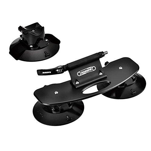 Gereton Cadre Porte-vélo de toit de voiture ventouse type de transport en rack Noir