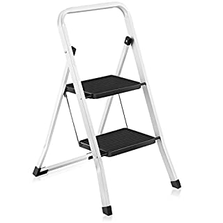 ArtMoon Zeppelin 2 Step Foldable Ladder Powder Coated Steel 46.5X55X82cm