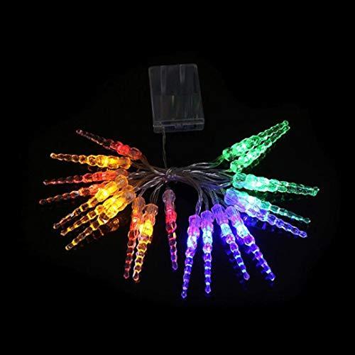 daJJ 2.2M 20pcs Dekorative Lichterkette Eiszapfen LED Licht Hochzeit Party Halloween Xmas Innen/Außen Haus Deko String Lights (Mehrfarbig) ()