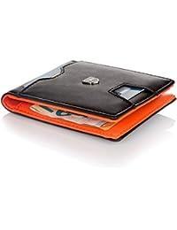 Kronenschein® Premium Herren Geldbörse mit Geldklammer Portemonnaie Männer Geldbeutel Slim Wallet Portmonee RFID Brieftasche Kreditkartenetui Kartenetui