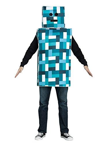 Unbekannt Retro Roboter Kostüm blau-Weiss M / L