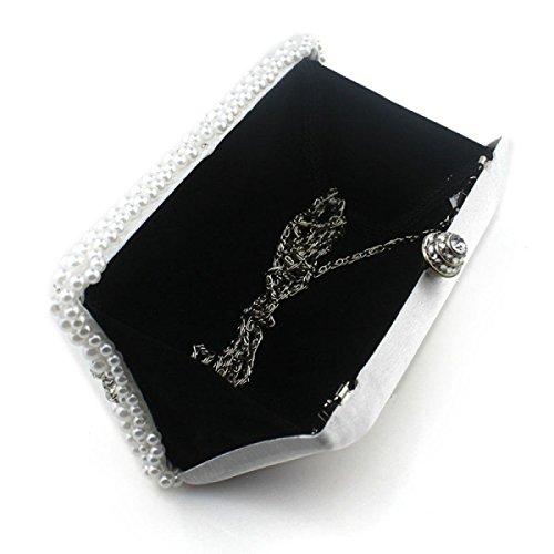 Lady Abendessenbeutel Handgemachte Wulstige Diamant Dame Kleid Tasche Mädchen Umhängetasche Black