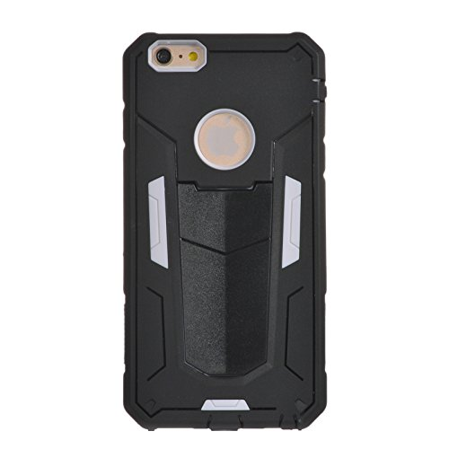 """iPhone 6 Plus Case, iPhone 6S Plus 5.5"""" Case SHANGRUN Armor Séries Case [Dual Layer] Hybrid Defender Silicone Hybride Couche 2 en 1 Silicone et PC Antichoc avec Béquille Etui Housse pour Apple iPhone  Blanc"""