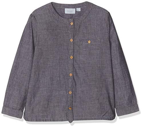 Noa Noa miniature Baby-Jungen Langarmshirt Boy Art Schwarz (Black 0), 62 (Herstellergröße: 3M) - Herren-shirts, Gewebten Hemden