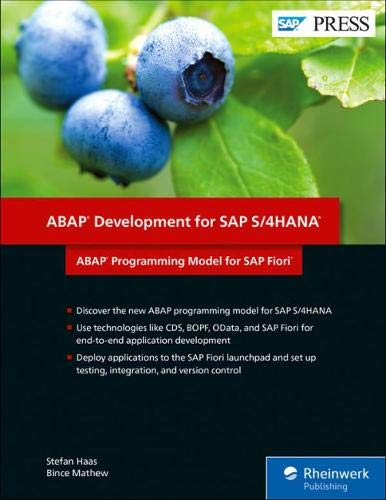ABAP Development for SAP S/4HANA: ABAP Programming Model for SAP Fiori