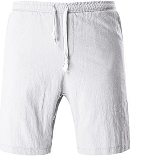 Men's High Quality Comfortable Beach Shorts white