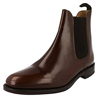 Loake Mens Brown 290T Polished Chelsea Boots-UK 6