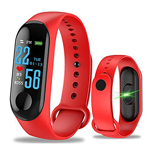 Aubess Pulsera Inteligente Fitness Tracker, M3, Pantalla táctil de Color, Impermeable, IP67,...
