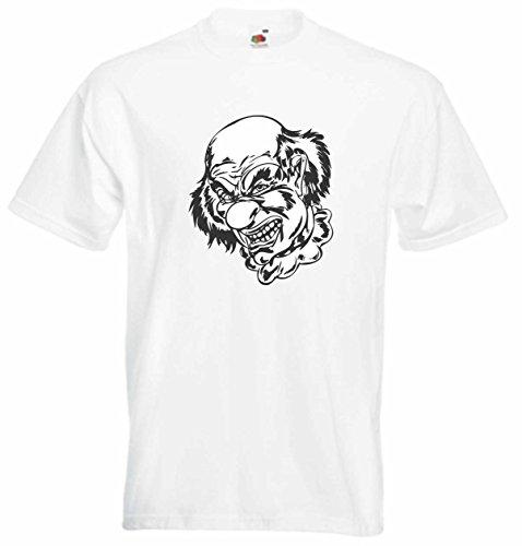 T-Shirt Herren Monster Folterer Weiß