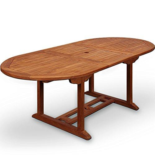 Table de jardin Vanamo Bois d'eucalyptus 200 x 100 x 74 cm Dépliable Extérieur Terrasse