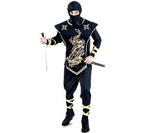 Fyasa 706114-T04 - Disfraz de Ninja para 12 años de Edad,, Grande