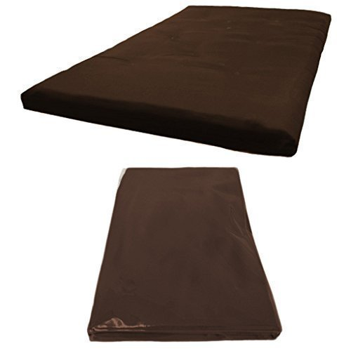 Futon Mattress COVER ONLY, Double 2 Seater in Brown. Available in 11 Colours