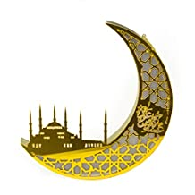 Rosymoment Arabic Moon Design LED light, Battery operated and hanging facility, Multi-Colour