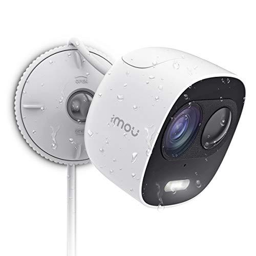 Imou Cámara de Vigilancia WiFi Exterior, Cámara IP WiFi 1080P IP65 Impermeable, Discuasión Proactica con Luces y Sonidos de Alarma, Visión Nocturna,PIR Sensor, Compatible con Google Home y IFTTT