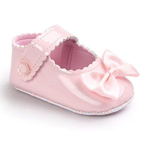 ❤️Chaussures de Bébé, Amlaiworld Bébé Fille Bowknot Chaussures en cuir Sneaker Semelles Souples Anti-dérapantes Chaussures Pour 0-18 Mois