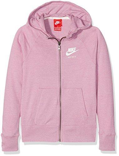 Nike G Nsw VNTG FZ Sweatshirt, Mädchen XL Lila (Orchidee/Segel)