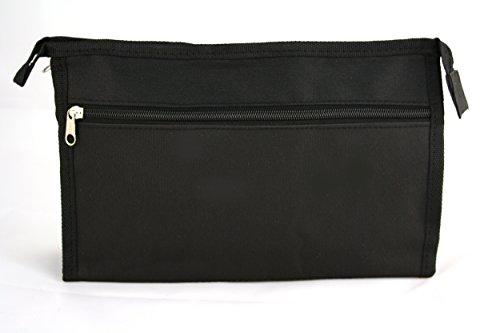 Bilson Kulturtasche für Herren Nylon, schwarz - - Günstige Kulturtasche Männer / Reise-Necessaire / Waschtasche / Toilettenbeutel aus wasserabweisendem Nylon