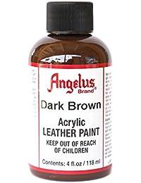 Angelus Acrylic Leather Paint-4oz.-Dark Brown by Angelus