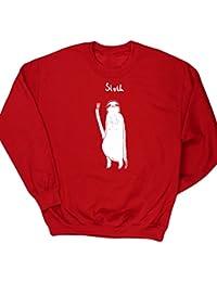 HippoWarehouse Perezoso dibujo lineal jersey sudadera suéter derportiva unisex