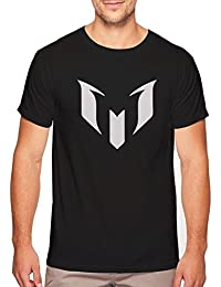 Bookmytees Messi Printed Round Neck Half Sleeves Black T-shirt For Men|Sports T-shirt For Men