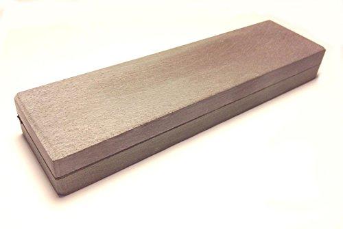 Schleifstein, Belgischer Brocken und Pyrenäen Stein, 150x40 mm Messer-Schärfer - Kochmesser Schleifstein