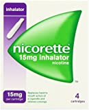Nicorette 15mg Nicotine Inhalator, 4 Cartridges