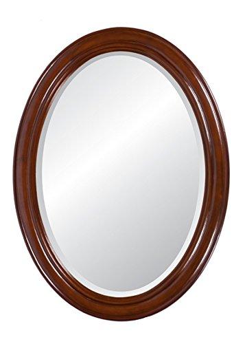 Specchio da parete ovale Mogano Loire marrone rotondo in stile (Antico Brown Parete Specchio)