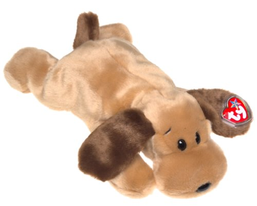 TY-Cagnolino di peluche Bones, linea Beanie Buddy, 30,5 cm