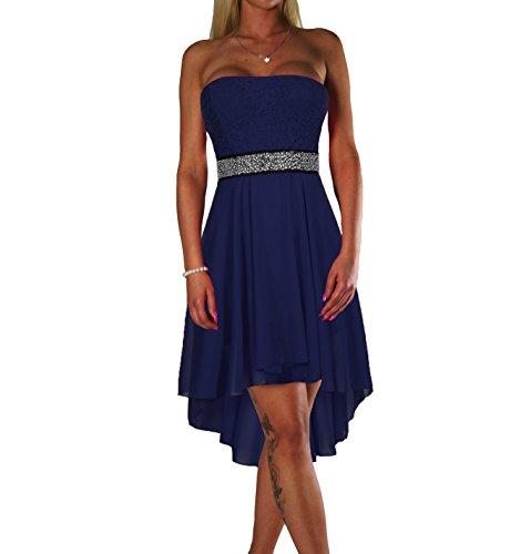 ALZORA Damen Kleid Bandeau Abendkleid Cocktailkleid mit Spitze Partykleid Ballkleid Sommerkleid ,...