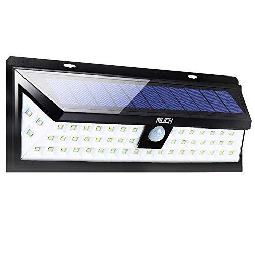 Solarleuchte für Außen,54 LED-Solarleuchten Optional 3 Beleuchtungsmodi Bewegungsmelder für Garten-Hof-Patio Garten-Einfahrt Garage