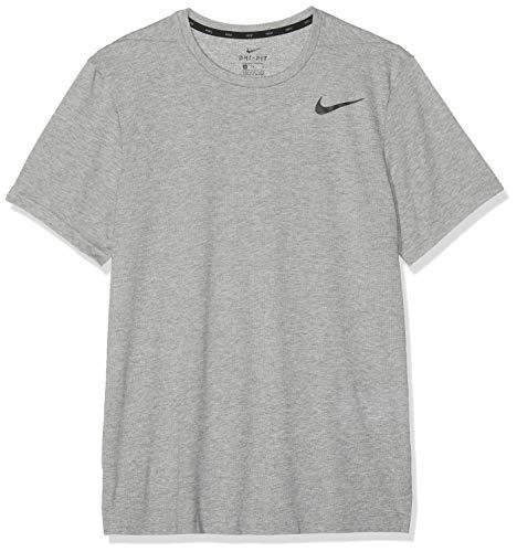 Dk Grey T-shirt (Nike Herren M NK BRT TOP SS HPR Dry T-Shirt, dk Grey Heather/Black, S)