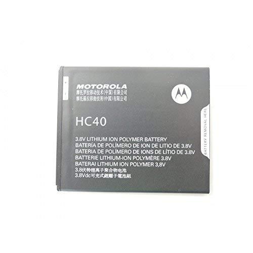 Glitzy Gizmos® - Batteria originale Motorola HC40, 2350 mAh, 9 Wh, 3,8 V, per Moto C G4
