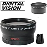 52mm Digital Vision Wide Angle Lens For Nikon Coolpix 5400 Digital Camera