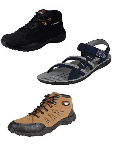 Chevit-Mens-Trio-Pack-of-3-Casual-Running-Shoes-and-Sandals-and-Floaters