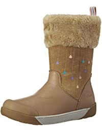 Clarks Girl's LilfolkRae Pre Tan Leather Boots