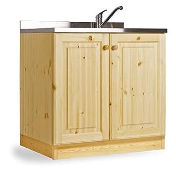 Base lavello appoggio da 80 con 2 vasche - MOBILE GREZZO (NO ...