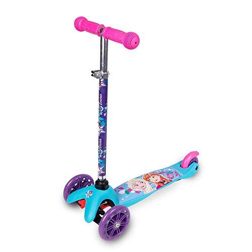 Disney Frozen Kinderroller Kinder-Dreirad-Roller ABEC 7, PU-Räder Tretroller Kickscooter Scooter Roller Dreiradroller klappbarer Roller 54 cm