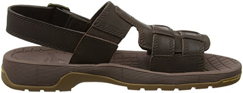 Dr. Martens Wharf Regular Herren/Unisex Sandalen Braun (Dark Brown Peidmont Split/peidmont Synthetic)