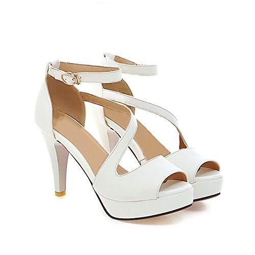 Sandalias Tacon Alto Mujer Plataforma Zapatos