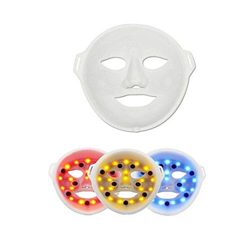 F SchöNheit 3 Farbe Licht Falten Haut VerjüNgung Behandlung Gesichts-SchöNheit Hautpflege Foto-Therapie LED-Maske , a (Foto-licht-therapie)