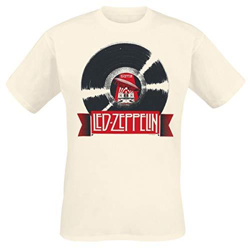 Led Zeppelin Mothership Record T-Shirt Sand M
