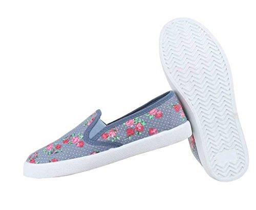 Blue Mulheres De Shoes Slipper Multi Preto Baixa URwqF