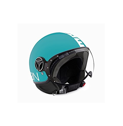 Helm Jet Momodesign Fighter Classic Aquamarin Größe M (Helm Jet Fighter)